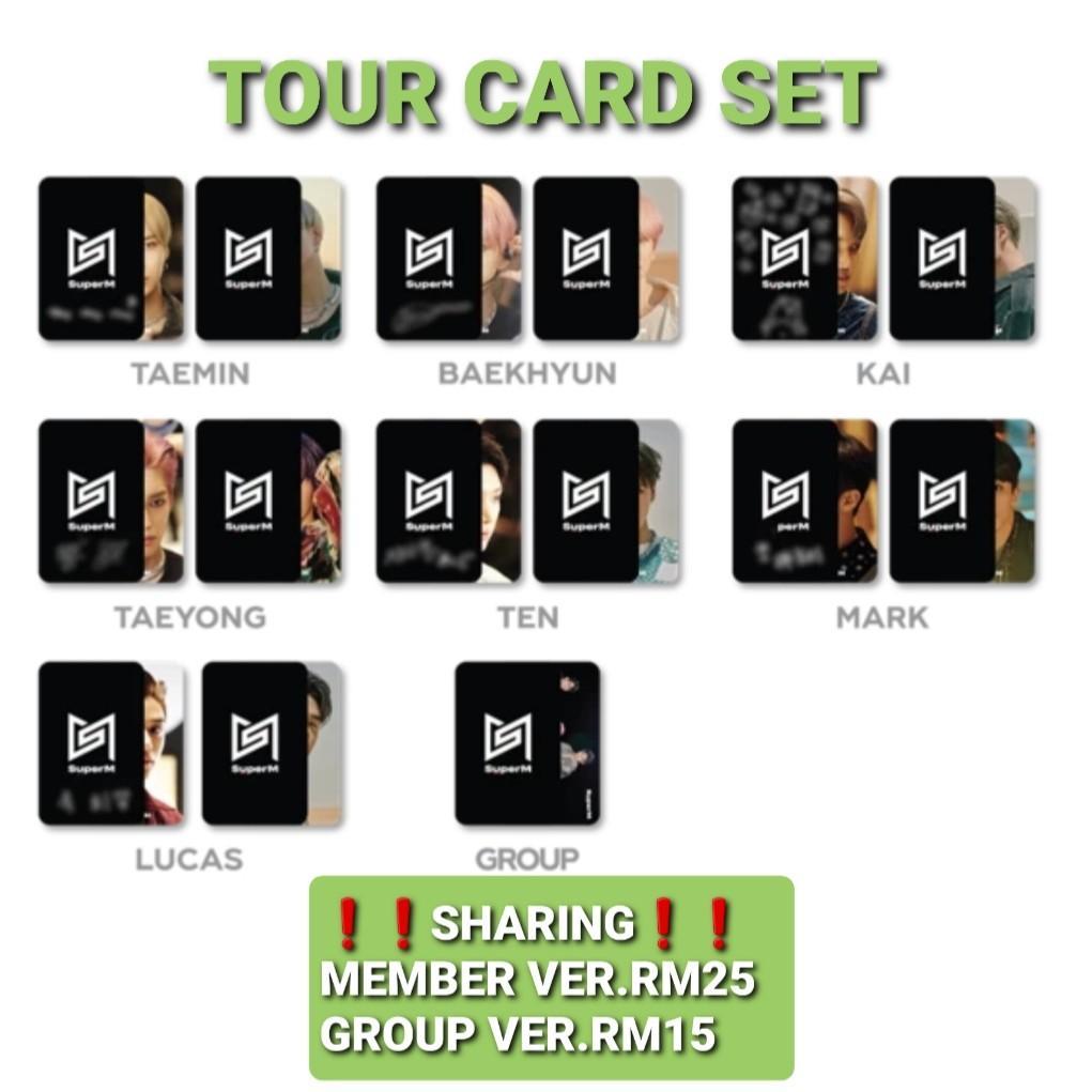 [SHARING] SUPERM CONCERT MERCHANDISE {TOUR CARD SET}