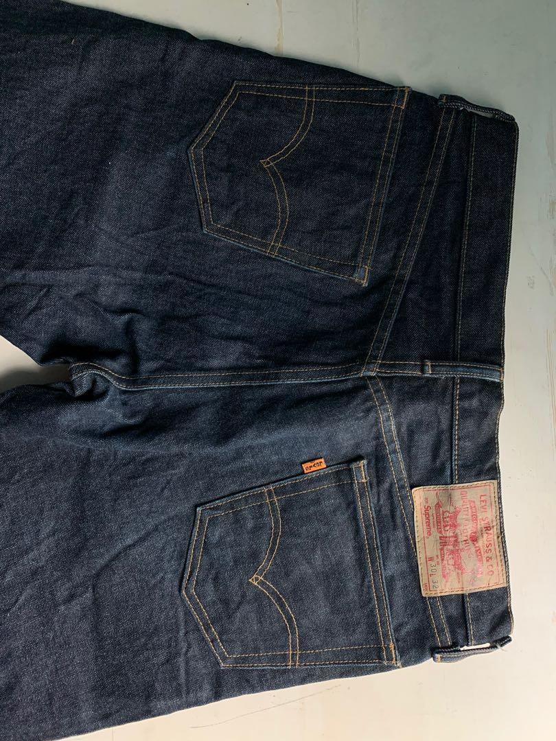 Supreme x Levi's - 505 Jeans Dark Indigo w/ Leopard Pocket 30x32