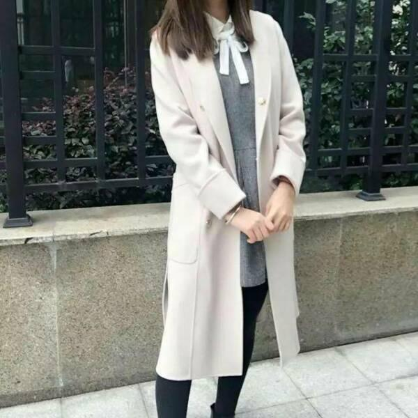 Wool coat ecru beige 100% wool RRP $450 pockets buttons 2019 show