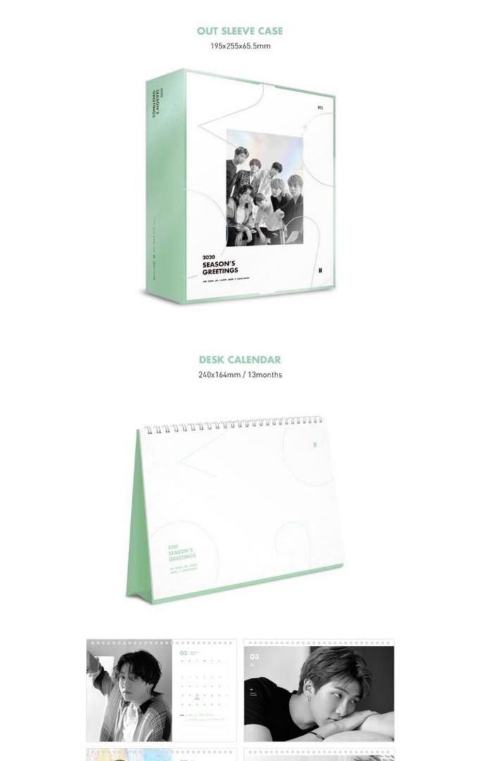 [WTB] BTS season greetings 2020 diary and calendar