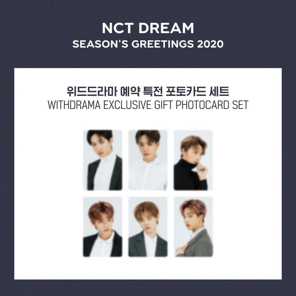 ‪[WTB] NCT DREAM SEASON GREETING 2020 Withdrama POB‬  ‪📌 JAEMIN SET only ( Postcard Calender + A4 Poster + Stickers + Additional Item + Pob )‬