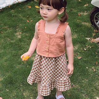 女童 兩件式 背心 裙裝