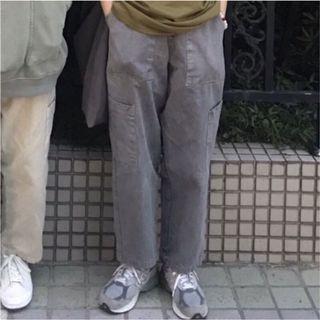 opoism 灰色工作褲