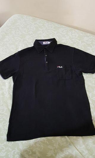 [Re-Price]  FILA Black Polo Shirt Original