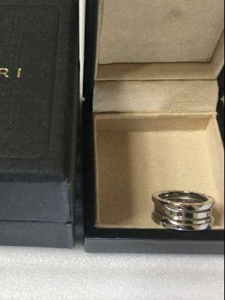 真品 BVLGARI 寶格麗 經典三環 750白金戒指     歐洲圍54號