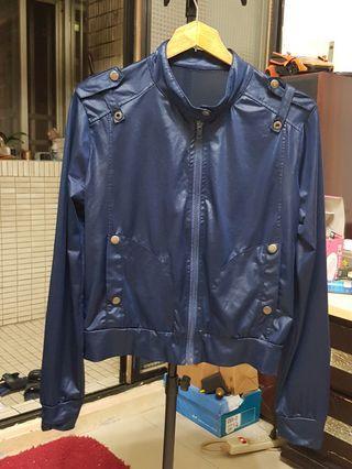 藍色個性薄外套