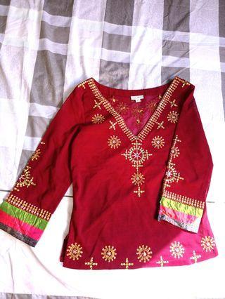 印度民族風外罩衫