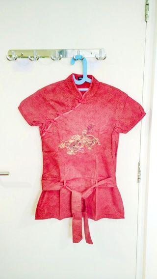 Cheongsam Shanghai Dress Red / Merah Nevada