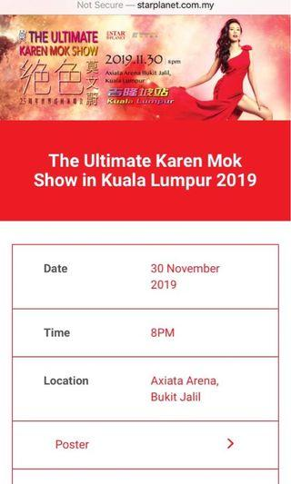 The Ultimate Karen Mok Show 2019 in Kuala Lumpur