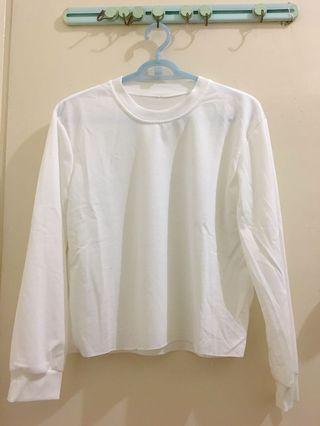 全新 白色素色上衣
