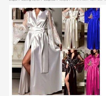 Kimono satin - robe satin - kimono pesta - robe lace - kimono lace