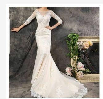 Gaun pengantin mermaid - dress prewedding fish tail - baju pengantin mermaid - mermaid Wedding dress