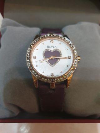 Authentic Bonia Ti amo quartz watch