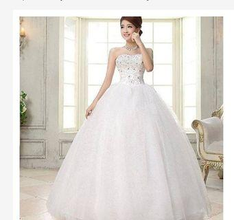 Gaun pengantin putih promo - gaun prewedding import - Wedding dress import murah - baju pengantin