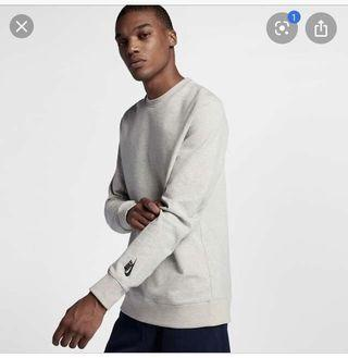 Nike lab 長袖灰色鋪棉大學T S 近全新