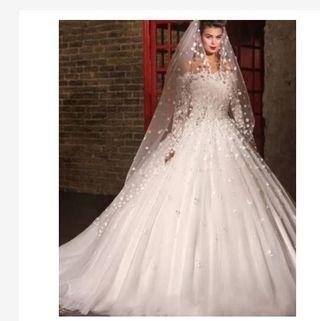 Gaun pengantin ballgown - dress pengantin - Wedding dress - baju pengantin import ballgown