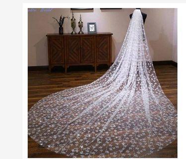 Veil 1 layer 4 meter - veil wedding - slayer pengantin - slayer wedding - accessories wedding