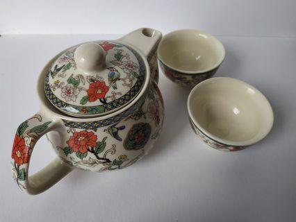 Teapot Set Chinese Oriental Pattern for 2 Pax