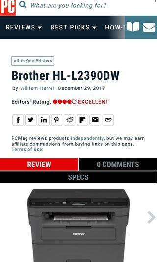 Brother HL L2390DW laser printer/copier/scanner