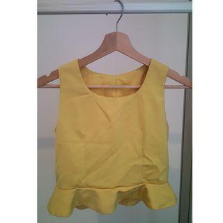 Yellow Sleeveless Top