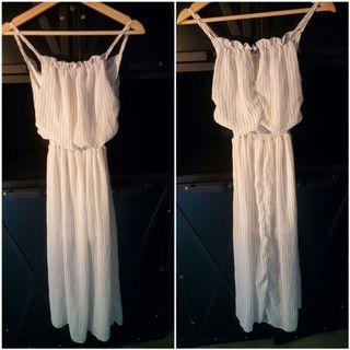 White Long Dress (Casual/Beach) (D12)