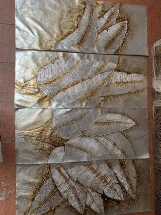 4 in 1 Banana Leaf Oil Painting