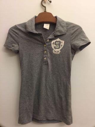A&F 灰色polo衫(沒穿過)