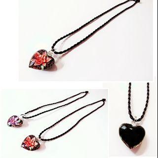 項鍊 心型花朵項鍊 繩鍊 二條NT50 (可單買)#剁手時尚