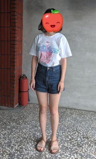 高腰反折牛仔短褲 #剁手時尚