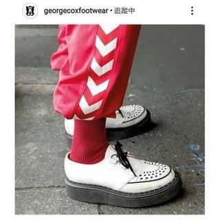 George Cox - 3588 VI 白皮 CHAOS PUNK   英國 龐克 厚底鞋