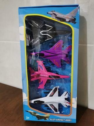 Alloy Aircraft Jet Model Toy Permainan Kapal Terbang Set Gift Present Kid Children