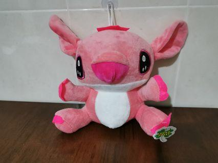 Lilo and Stitch Pink Color Huge Cute Eyes Plush Soft Doll Toy Patung