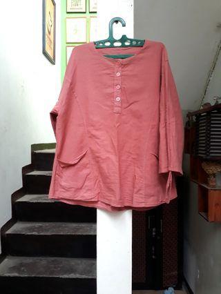 Atasan blouse peach