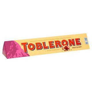 TOBLERONE FRUIT AND NUT CHOCOLATE BAR 100g