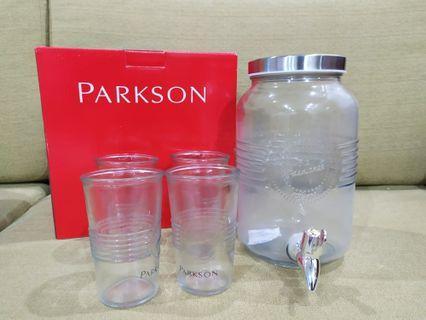Glass Water Dispenser & Glasses #1111