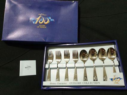 限量迪士尼100週年紀念餐具組🍽