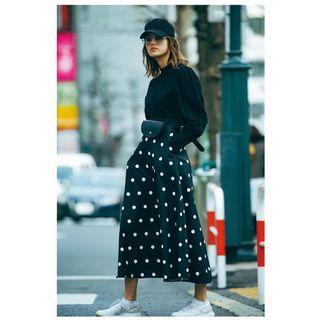 [二手 免運]日本正品 Moussy 波點長裙
