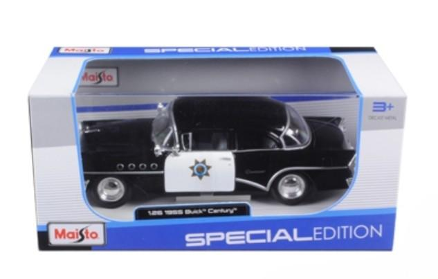 1955 Buick Century Police 1/26 Diecast Model Car