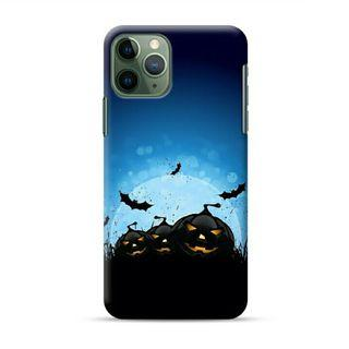 Halloween Pumpkin Faces iPhone 11 Pro Custom Hard Case