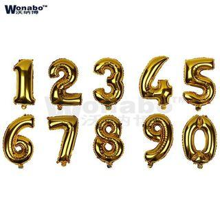 Balloon number set