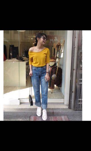 芥末黃針織上衣#剁手時尚