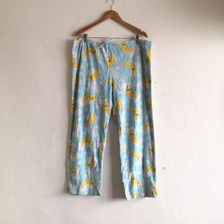 Moon Printed Polyester Pajama Pants