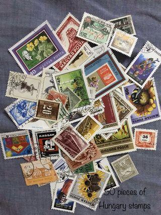 50 pieces of Hungary stamps