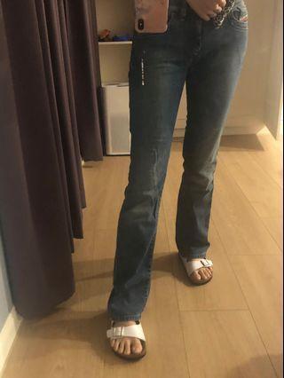 Diesel 保證真品9.5 新 靴型褲 少見稀有