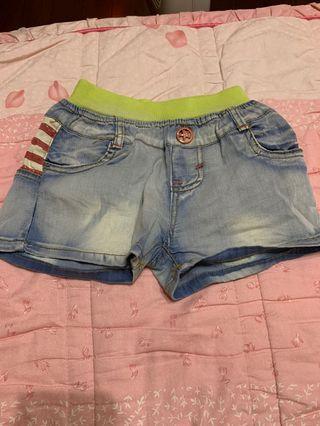 牛仔短褲2件