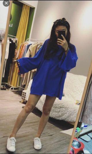 藍色長t#剁手時尚