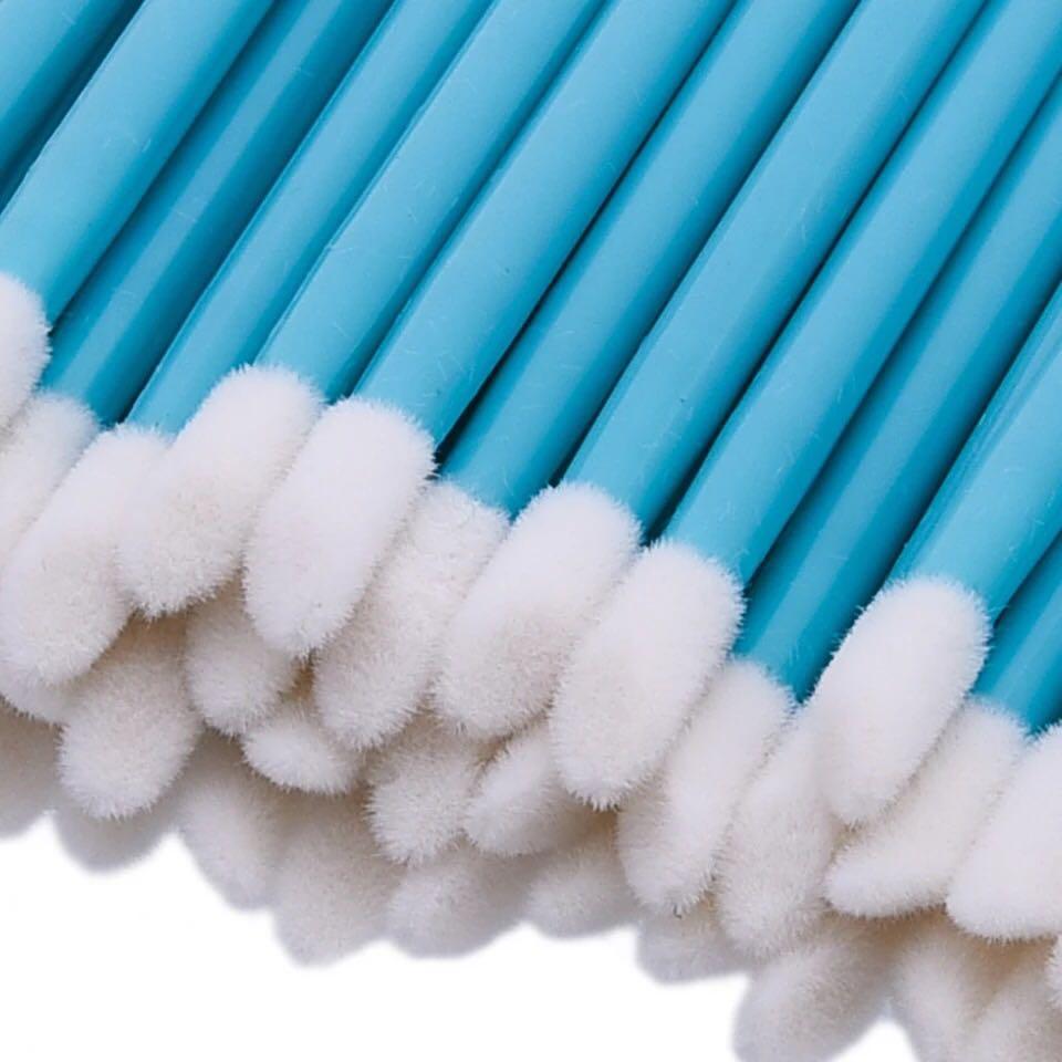 50PCS/Pack Disposable Makeup Lip Brush Cleaning Pen Lipstick Mascara Wands Brush Clean Eyelash Cosmetic Brush