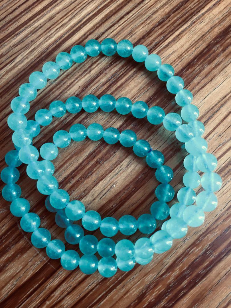 6mm beads turquoise amazonite necklace bracelet