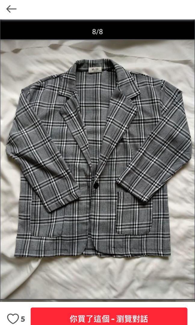 格子西裝外套