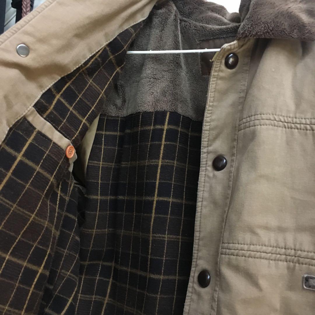 (九成新!) 古著大地棕色內鋪棉外套夾克